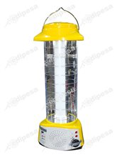 LUDGER Lampara de Emergencia recargable EL-1830 LED 360° c/radio FM