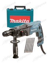 MAKITA Combo Taladro Rotomartillo SDS PLUS c/maletín + 6 Brocas HR2230 22mm 710W