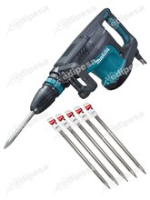 Martillo Demoledor HM1203C SDS-MAX Makita + 5 cinceles